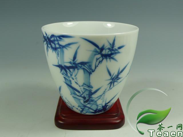 手绘竹子品茗茶杯